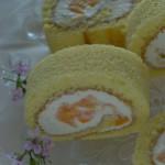 チーズと柑橘のロールケーキ